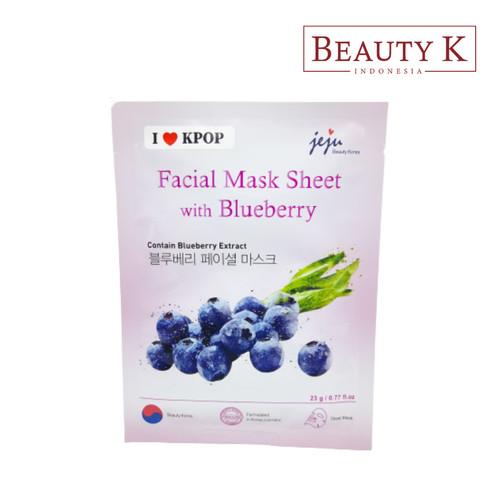 Foto Produk BeautyK Facial Mask Sheet with Blueberry dari BeautyK Indonesia