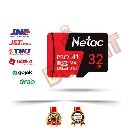 Foto Produk Netac Pro Micro SD Memory Card 4K UHD & FHD Video 32GB Class 10 dari Duta IT Accessories