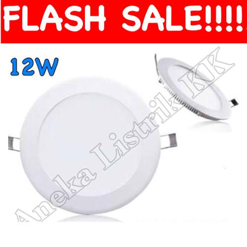 Foto Produk Downlight Panel LED IB BULAT PUTIH 12w 12watt DL INBOW   Masuk Plafon dari Aneka Listrik KK