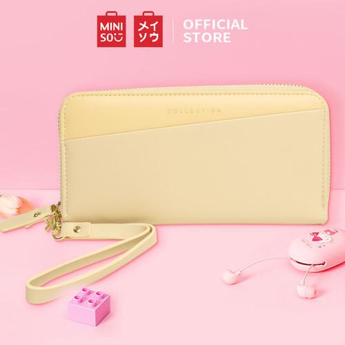 Foto Produk MINISO Dompet Wanita Panjang Wallet Simple Fashion Korea Elegant - Kuning dari Miniso Indonesia