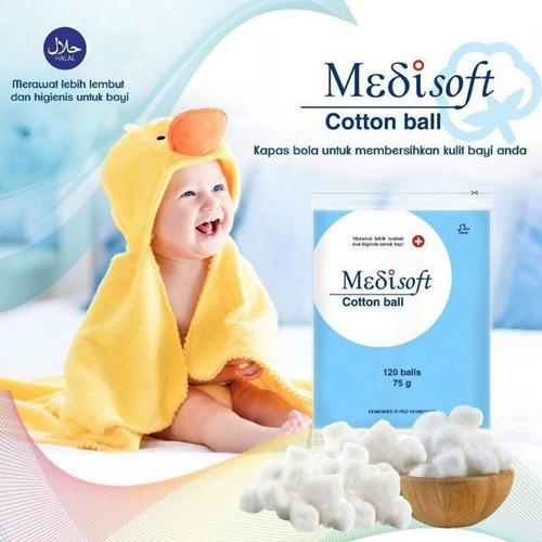 Foto Produk Medisoft Cotton Balls 120 RETAIL dari Adekmungil babyshop