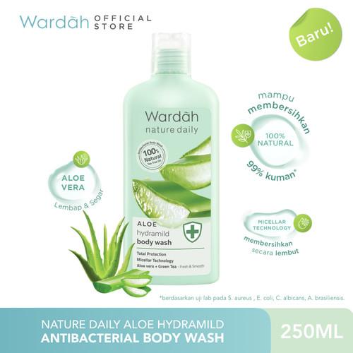 Foto Produk Wardah Nature Daily Aloe Hydramild Body Wash 250 mL dari Wardah Official