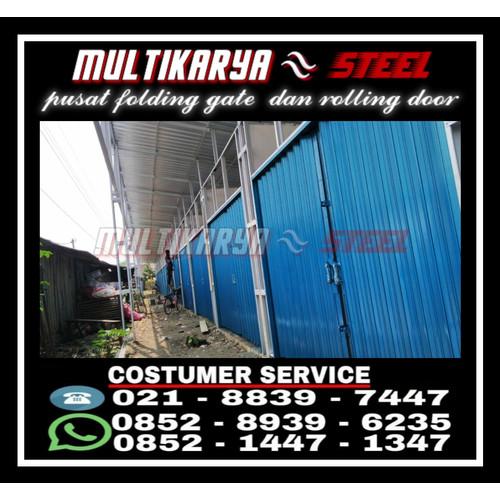 Foto Produk Jual Folding Gate Termurah Standar Kuat & Awet Terbaru 2021 MKS (DP/M) - 03 BESI, Hijau dari CV.Multi Karya Steel