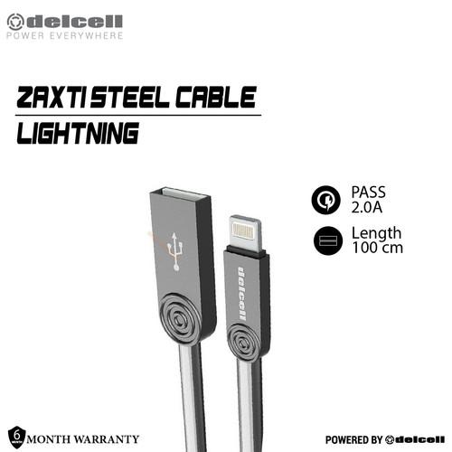Foto Produk Delcell STEEL Kabel Data Lightning 2 Ampere Fast Charging Original - Silver dari DelCell