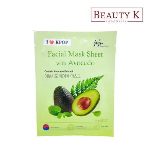 Foto Produk BeautyK Jeju Facial Mask Sheet with Avocado dari BeautyK Indonesia