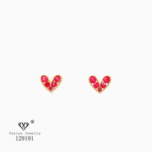 Foto Produk Anting Lapis emas (Tusuk) Red/Black Love Perhiasan imitasi Yaxiya 389 - model 1 dari YAXIYA JEWELRY