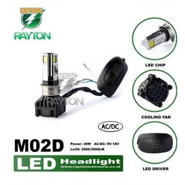 Foto Produk LAMPU DEPAN RTD M02D 35W 3 SISI 3 MATA LED RAYTON HEADLAMP ORI GARANSI dari Garasi Items Indonesia