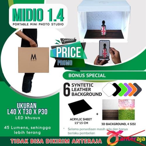 Foto Produk Mini Portable Kit Photo Photography Studio Midio dari Midio