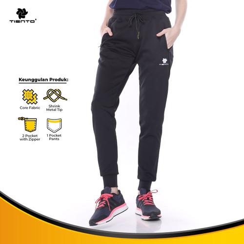 Foto Produk Tiento Celana Jogger Panjang Wanita Long Pants Joger Sporty Women - S dari TIENTO