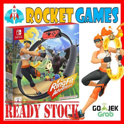 Foto Produk RING FIT ADVENTURE NINTENDO SWITCH / Nintendo Switch Ring Fit Ringfit - Reg Eur/Jap/Aus dari Rocket games