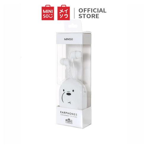 Foto Produk MINISO We Bare Bears Headset Earphone Headphone Mic Tempat Penyimpanan - Putih dari Miniso Indonesia