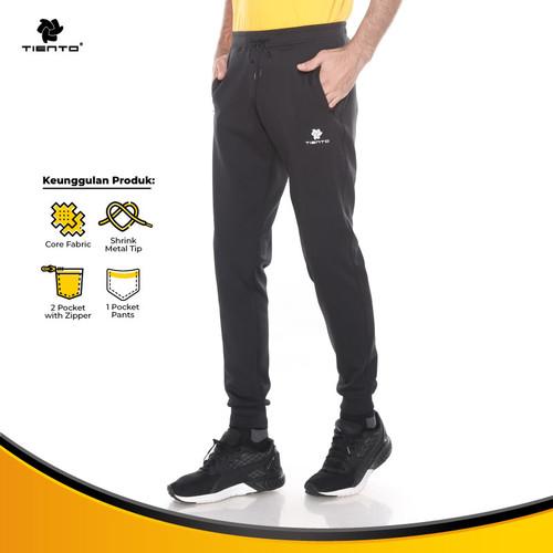 Foto Produk Tiento Celana Jogger Panjang Pria Long Pants Joger Basic Sporty Men - S dari TIENTO