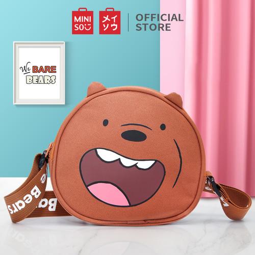 Foto Produk MINISO Tas Selempang Wanita Sling Bag Karakter Lucu We Bare Bears - Cokelat dari Miniso Indonesia