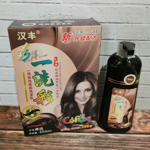 Foto Produk ❤️original ❤️ SHI RAN MEI Shampoo uban /Shampo Pewarna Rambut - darkbrown 650ml dari Koreanholicshop