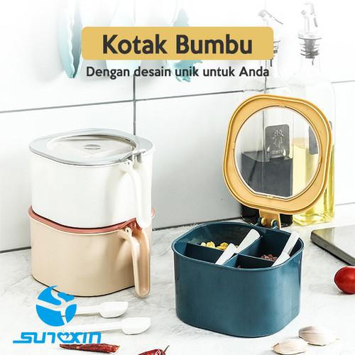 Foto Produk KOTAK BUMBU 3IN 1/TEMPAT BUMBU DAPUR/BAHAN PLASTIK - B-Putih dari SUNXIN