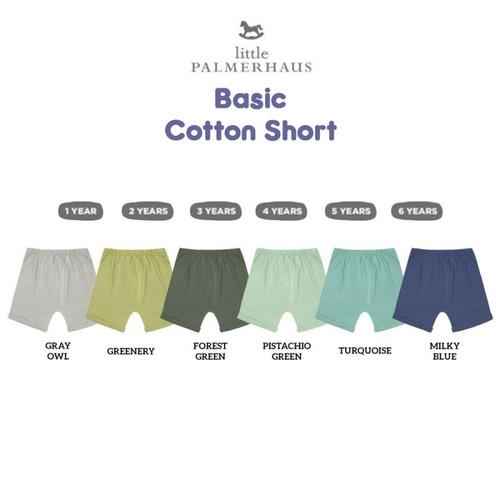 Foto Produk Little Palmerhaus Basic Cotton Short WARNA 4 - Celana pendek anak - GREENERY, 1 TAHUN dari Tiny Steps Baby