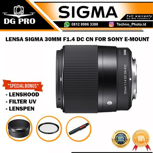 Foto Produk LENSA SIGMA 30MM F1.4 DC CN FOR SONY E-MOUNT - ORIGINAL - SONY E MOUNT dari DG PRO