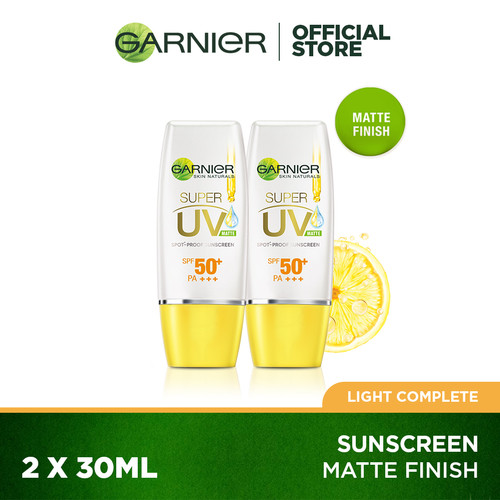 Foto Produk Garnier Super UV Light Complete Sunscreen Twinpack Matte Finish dari Garnier Official