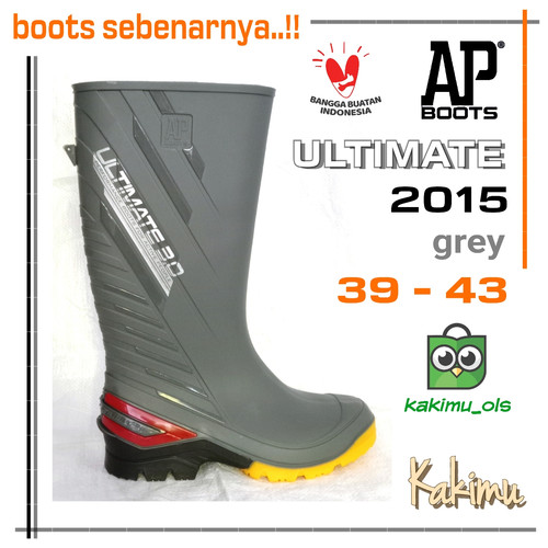Foto Produk SEPATU BOOT AP BOOTS AP 2015 BLACK - Abu-abu dari kakimu_ols