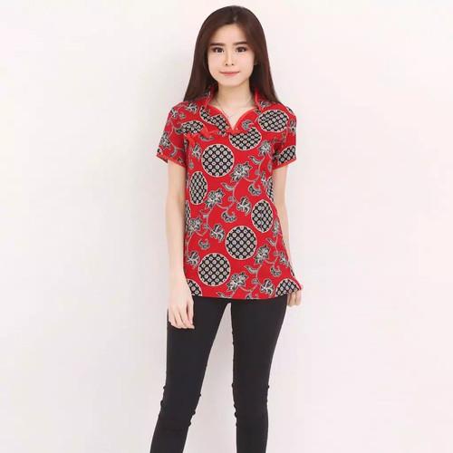 Foto Produk Blouse Wanita / Baju Batik Imlek / NILA CHEONGSAM TOP / Bahan Katun - Yellow dari Fraire Collection