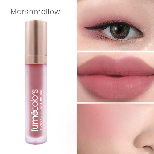 Foto Produk Lipstik 3 in 1 Multifungsi Eyeshadow Blush On Lipstick Lumecolors ASLI - Marshmellow dari Rai Organik Online