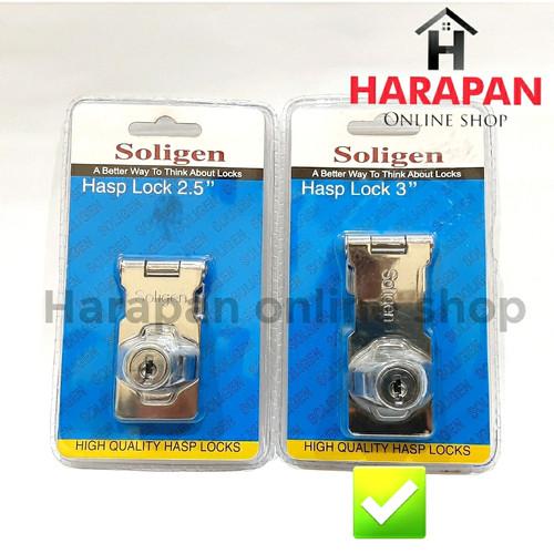 """Foto Produk HASP LOCK 3 INCH SOLIGEN / GRENDEL OVERPAL GEMBOK / KUNCI PINTU 3"""" dari Harapan online shop"""