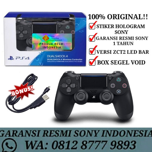 Foto Produk Stik ps4 Dualshock 4 light bar original dari Divisi Game