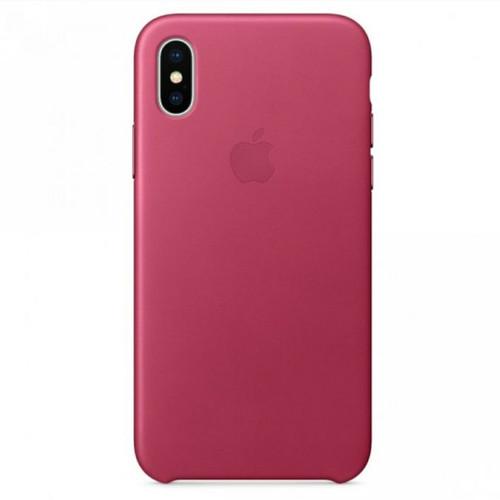 Foto Produk Iphone X / Iphone XS - Original Apple Official Leather Case - Pink Fuschia dari DK-Gadget Store