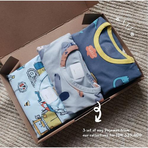 Foto Produk LEBIH HEMAT BELI 3 | Paket Baju Tidur/Piyama Anak | OHBABYDAYS dari Ohbabydays