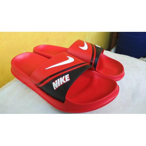 Foto Produk Sandal / Sendal Nike Bennassi Strip Slop SlipOn Pria Cowok - Redbull, 39 dari Kimono Mou