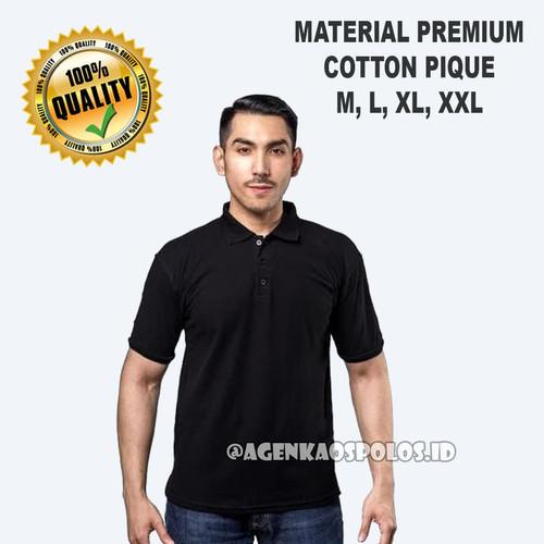 Foto Produk Kaos Polo Shirt Polos Berkerah Premium Distro - HITAM - Hitam, S dari Agen Kaos Polos