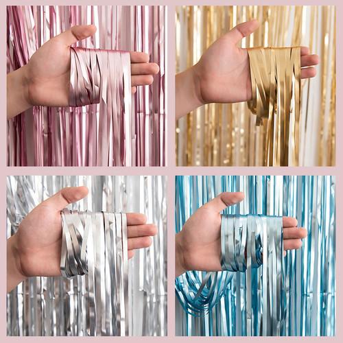 Foto Produk Curtain Foil Matte / Tirai Foil Doff - Rose Gold dari Balloonia