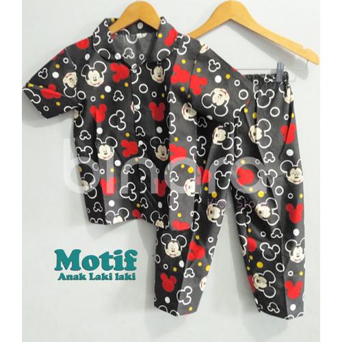 Foto Produk Piyama Anak / baju Tidur Anak Motif /Cowok/Laki laki Murah dan Bagus - 0-3 bulan dari Binara Kids Store