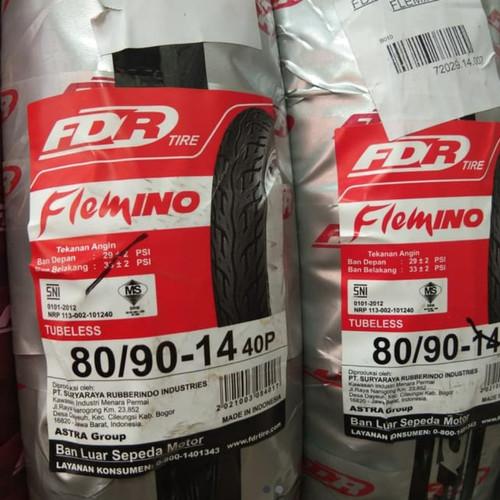 Foto Produk FDR 80/90-14 FLEMINO BAN MOTOR MATIC DEPAN TUBELES dari Walper olshop