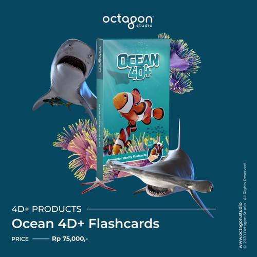 Foto Produk Kartu Ocean 4D+ / Flash Card / Mainan Edukasi Anak (Octagon Studio) dari Heiby Baby