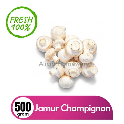 Foto Produk Jamur Champignon / Jamur Kancing Fresh (Khusus Area Jabodetabek) dari Alicia Homeware Shop