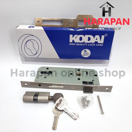 Foto Produk BODY KUNCI PINTU KODAI SEDANG / KUNCI PINTU RUMAH COMPLETE dari Harapan online shop