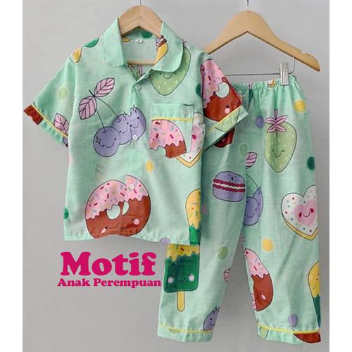 Foto Produk Piyama Anak / Baju Tidur Anak Motif / Cewek/Perempuan Murah dan Bagus - 0-3 bulan dari Binara Kids Store