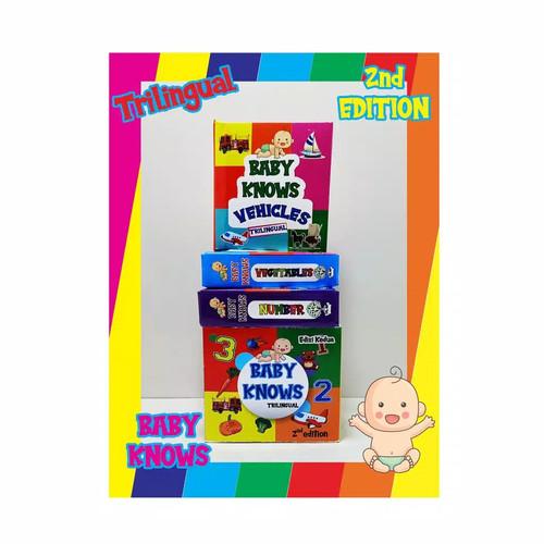 Foto Produk Baby Knows Buku Edukasi Anak Bayi Pop Up Book Multi bahasa - 2nd Edition dari Mainan Kreatif Anak