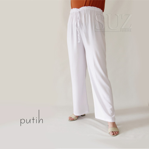 Foto Produk GROSIR celana panjang Rayon polos jumbo - Putih dari SU'z fashion