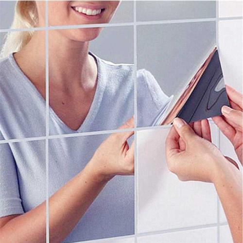 Foto Produk wall sticker cermin mirror kaca wallpaper dinding dari dktoko