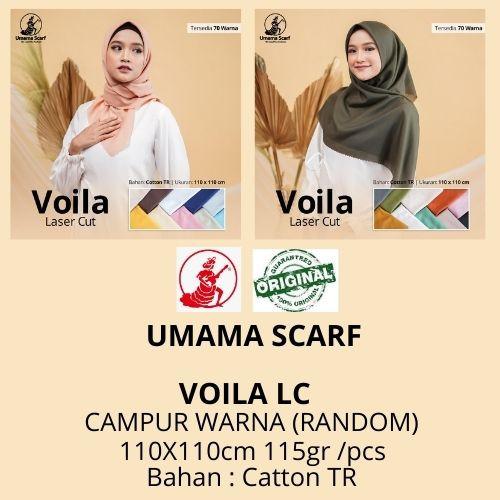 Foto Produk Kerudung Segiempat Polos Umama VOILA LC RANDOM Warna jilbab lasercut dari Istanajilbabumama