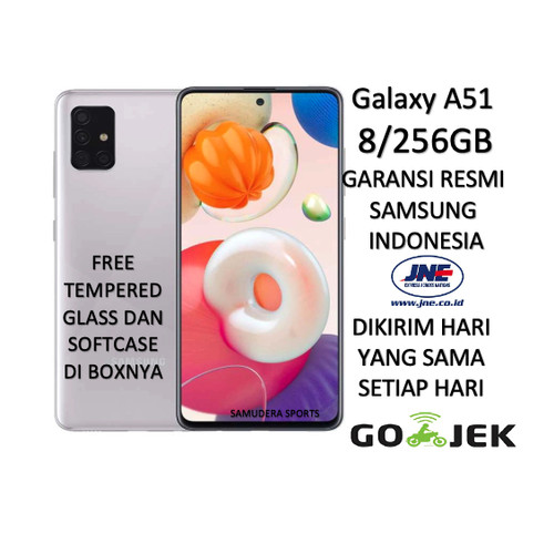 Foto Produk SAMSUNG GALAXY A51 8/128 (RAM 8GB/128GB) 2020 GARANSI RESMI SEGEL - Biru Muda dari Samudera Sports
