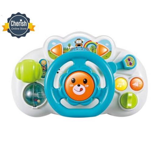 Foto Produk Mainan Setir Mobil Bayi - STEERING WHEEL - Mainan Edukasi Bayi - Biru dari Cherish Online