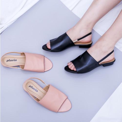 Foto Produk Pluvia - MANDY Sandal Flat Wanita - Hitam, 37 dari Pluvia Shoes