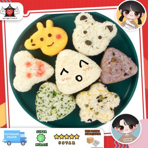 Foto Produk Cetakan bento onigiri berbagai bentuk, cetakan sushi segitiga hati - Peppa pig dari Lovely Gubuk