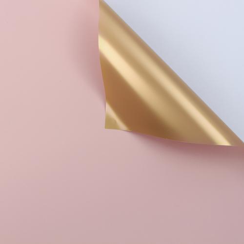 Foto Produk Kertas Bunga Wrapping Paper (LEMBARAN; Size 60x60cm) - Bicolor Gold - 166 LT PINK GOL dari Wood chip store