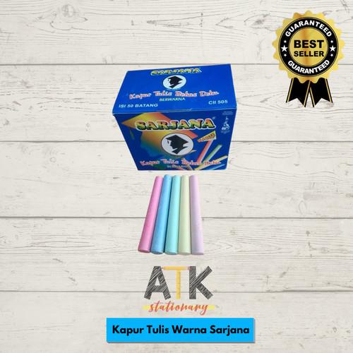 Foto Produk Kapur Tulis Warna Sarjana atk dari Atkstationary