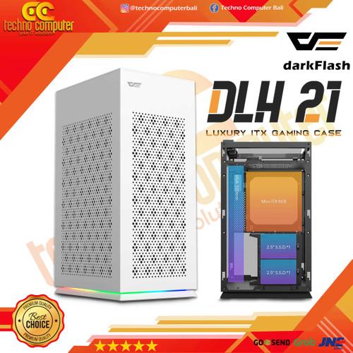 Foto Produk Aigo darkFlash DLH21 - Luxury Mini ITX Gaming Case White dari Techno Computer Bali