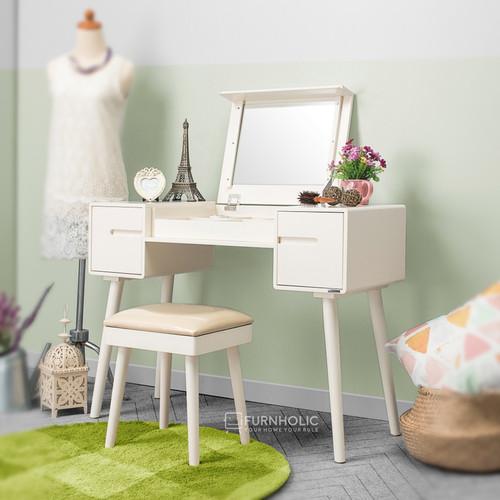 Foto Produk iFurnholic Eurosian Vanity Sets - Furniture Meja Rias - Ivory dari iFURNHOLIC
